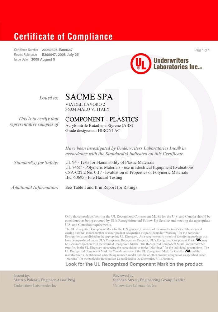 sacme-certificazioni-ul-UL_HIRONLAC